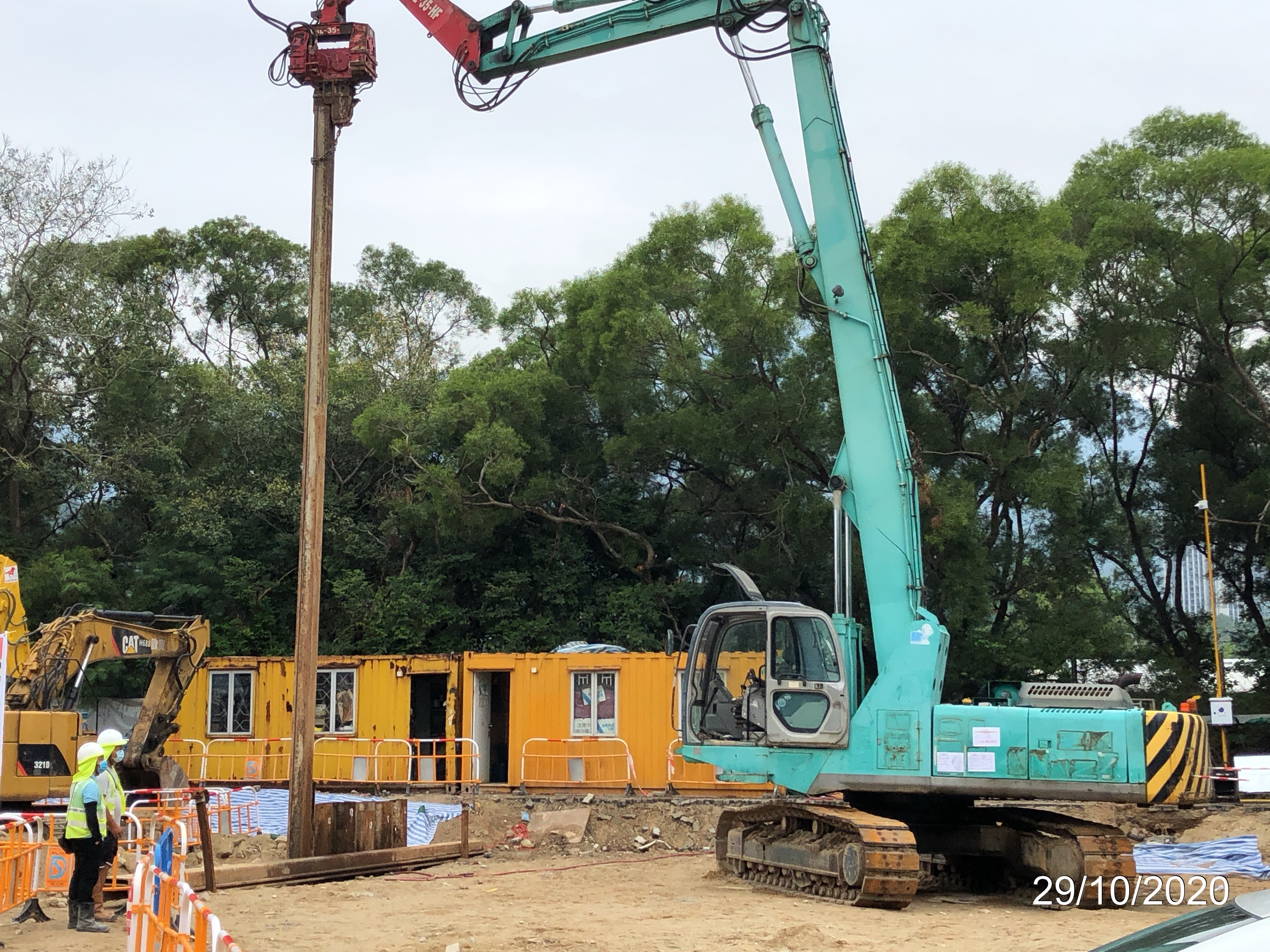 Commencement of Excavation & Lateral Supports Erection